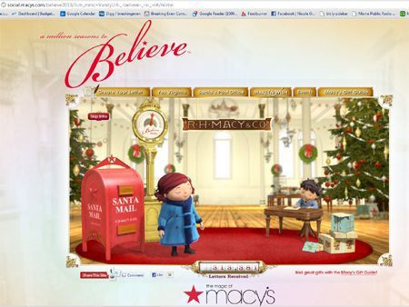 Macy's Landing Page. So animated, it almost made me forget I don't like Flash as a general rule.