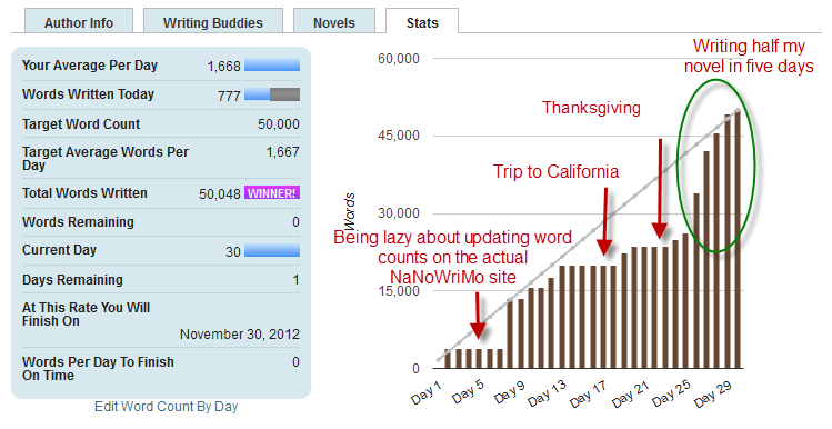 What I Learned Writing 50,176 Words In One Month