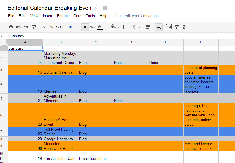 Editorial Calendar Organizes Your Posts… And Brain