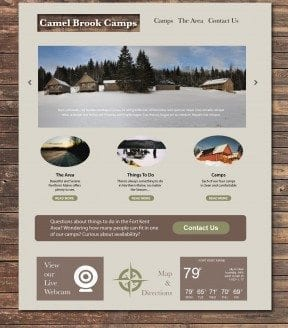 Camel Brook Camps responsive website layout.