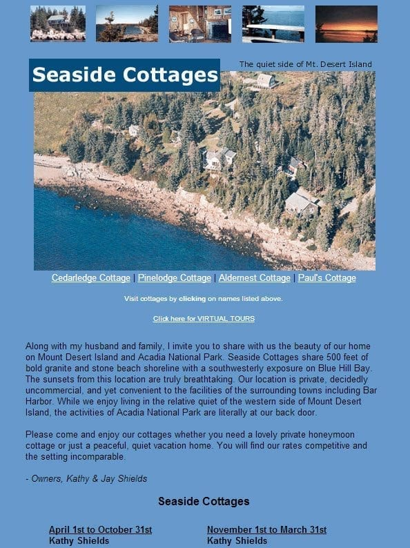 Website Launch: Seaside Cottages