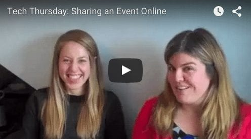 Tech Thursday: Sharing an Event Online