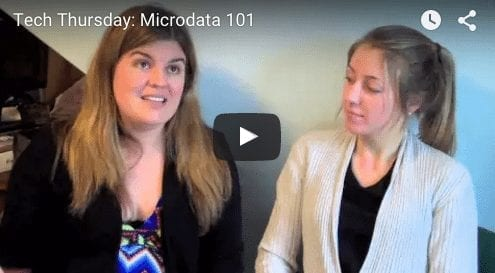 Tech Thursday: Microdata 101