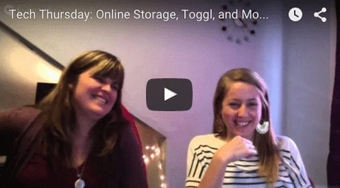 Tech Thursday: Online Storage, Toggl, and Beyond