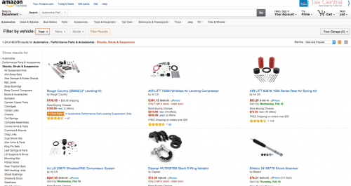 "Amazon- an example of a shopping cart site. Fun Fact: when you're looking for automotive gear, instead of ""Add to Cart"" it says ""Add to Garage."" Oh, Amazon..."