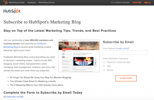 hubspot-subscription-page