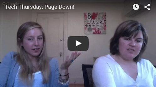 Tech Thursday: Page Down!