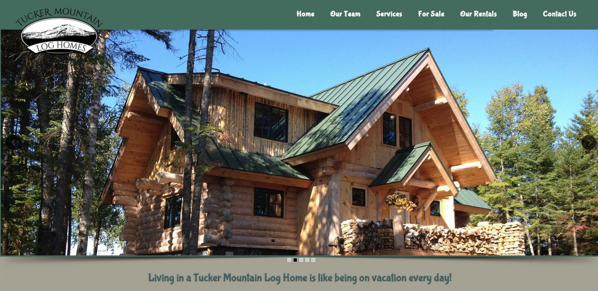 Website Launch: Tucker Mountain Log Homes