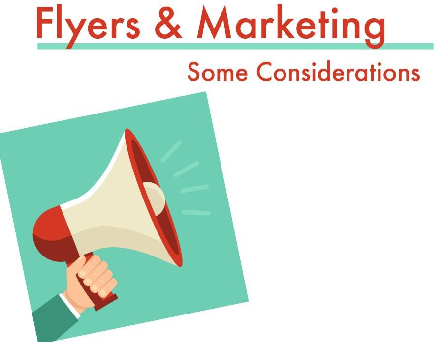 Marketing an Event with a Flyer: Some Thoughts