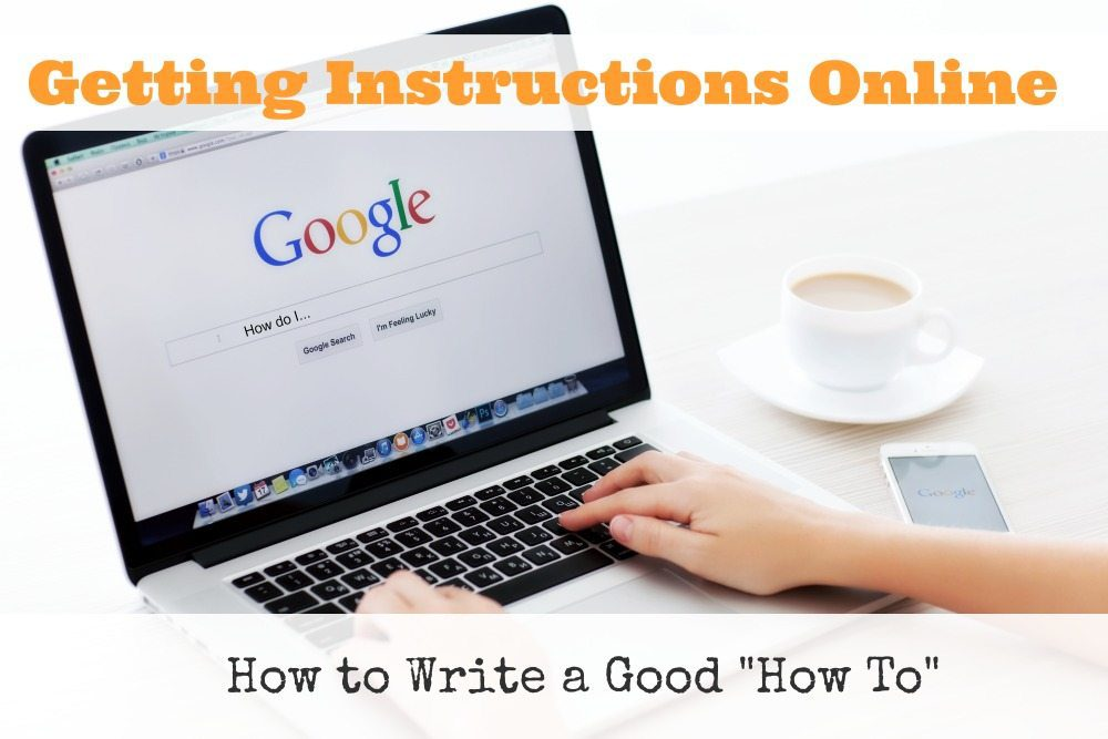 "How to Write a Good ""How To"""