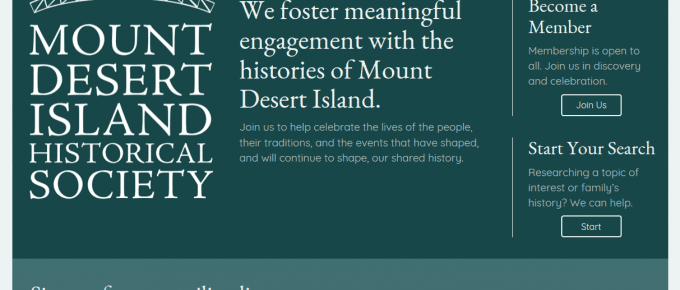 Website Launch: Mount Desert Island Historical Society